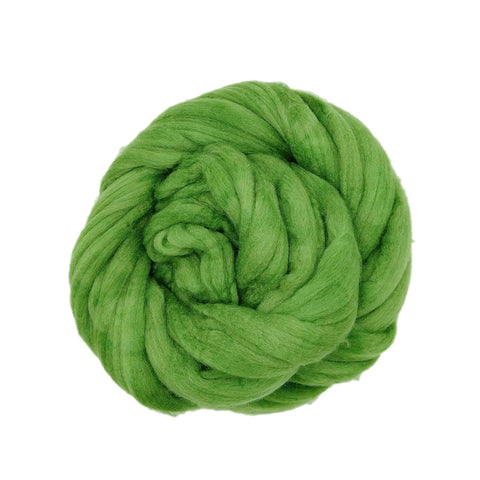 Bright Clover Color;<br>Mixed Merino-Silk;<br>Fiber for Handspinning
