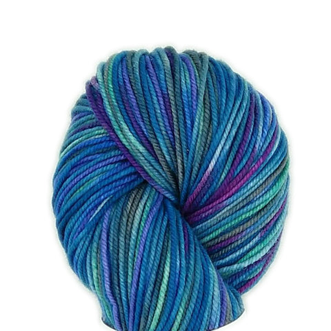 Burnside Bridge Colorway<br>Tahoma Yarn;<br>DK-Weight;<br>100 % SW Merino<br>4 oz Skeins