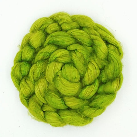 Chartreuse Color;<br>Camel-Silk Fiber