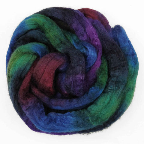 Constellation Colorway;<br> BFL-Silk 75-25 Fiber