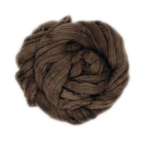Dark Chocolate Color;<br> Merino-Silk 50-50 Fiber