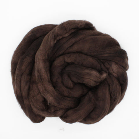 Dark Chocolate Color;<br>Merino-Yak-Silk Fiber