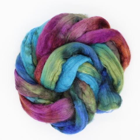 Deschutes Colorway;<br> BFL-Silk 75-25 Fiber