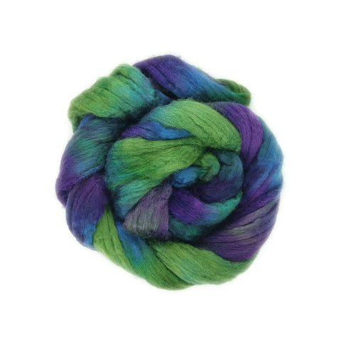 Dragonfly Colorway;<br>BFL-Silk Fiber