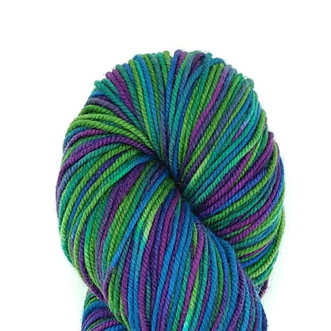 Dragonfly Colorway;<br>Tahoma Yarn;<br>DK-Weight;<br>100 % SW Merino<br>4 oz Skeins