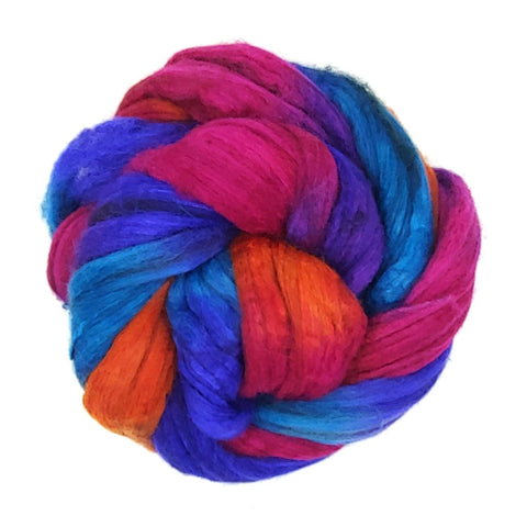 Endless Summer Colorway;<br>Merino-Yak-Silk Fiber