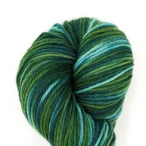 Envy Colorway; <br>Worsted Weight Yarn;<br>100% Superwash Merino
