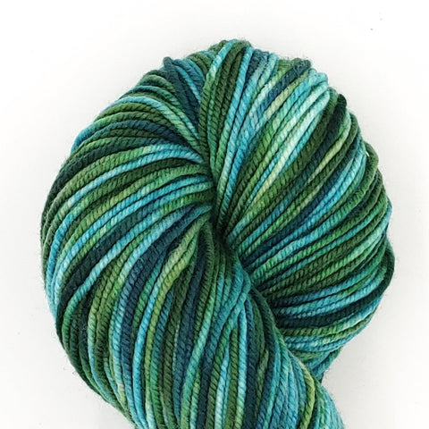 Envy Colorway; <br>Tahoma Yarn;<br>DK-Weight;<br>100 % SW Merino