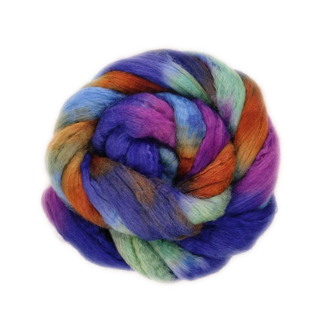 Gaston Colorway;<br>BFL-Silk Fiber