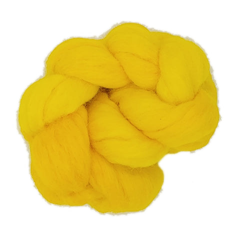 Goldenrod Color;<br>Organic Merino 100 Fiber;<br>One Ounce Breed Bit