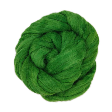 Green Color; <br> Mixed Merino-Silk Fiber