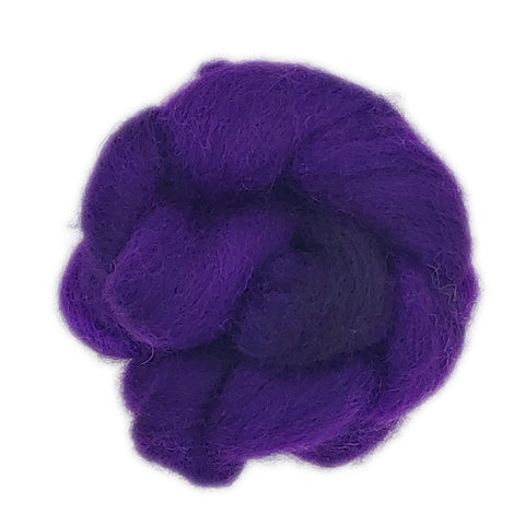 Huckleberry Color;<br>Romney 100 FiberOne Ounce Breed Bit