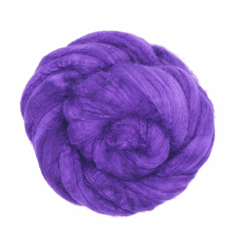 Huckleberry Color;<br>BFL-Silk Fiber
