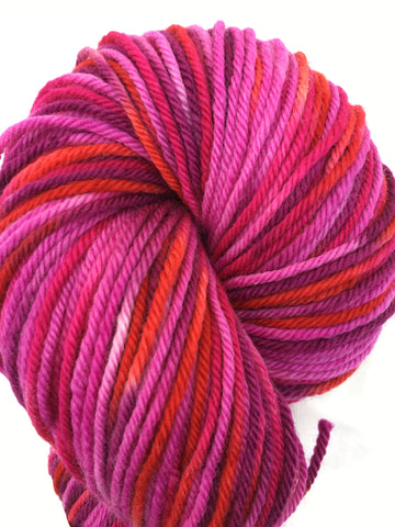 Mt Hood Rose Colorway; <br>Worsted Weight Yarn<br>100% Superwash Merino