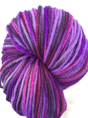 Smitten Colorway; <br>Worsted Weight Yarn;<br>100% Superwash Merino