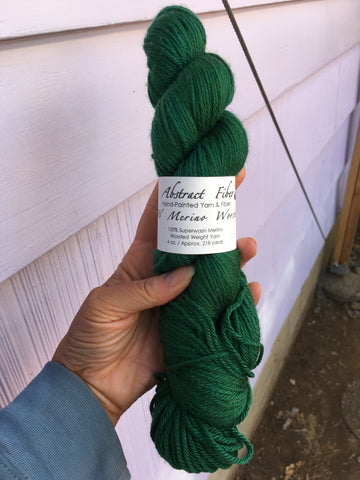 Teal Color; <br>Worsted Weight Yarn;<br>100% Superwash Merino
