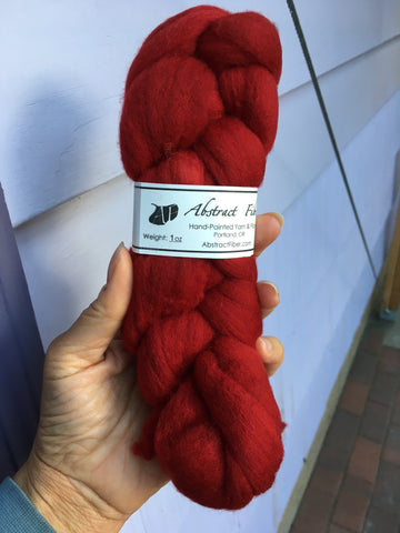 Red Color;<br>Targhee 100 Fiber;<br>One Ounce Breed Bit