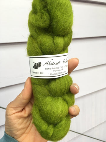 Chartreuse Color;<br>Cheviot 100 Fiber;<br>One Ounce Breed Bit