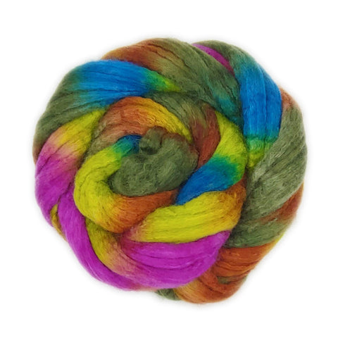 Laurelhurst Colorway; <br> Mixed Merino-Silk Fiber