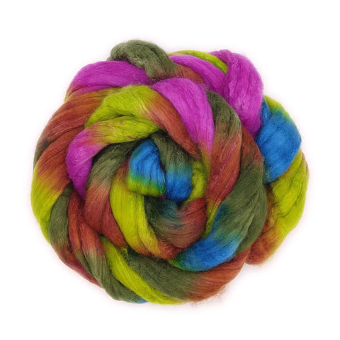 Laurelhurst Colorway; <br> Polwarth-Silk Fiber