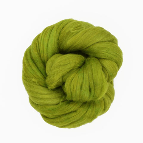 Lichen Color; <br> Mixed Merino-Silk<br>Fiber for Handspinning