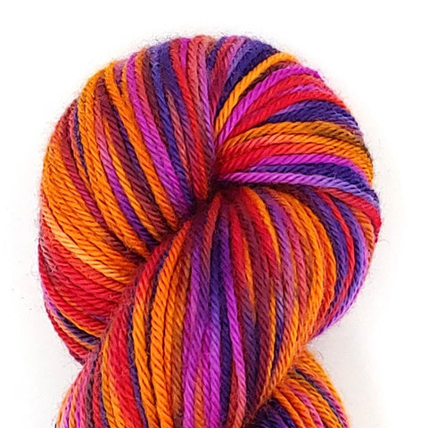 Madrigal Colorway; <br>Worsted Weight Yarn;<br>100% Superwash Merino