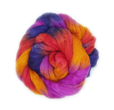 Madrigal Colorway;<br>Polwarth-Silk Fiber