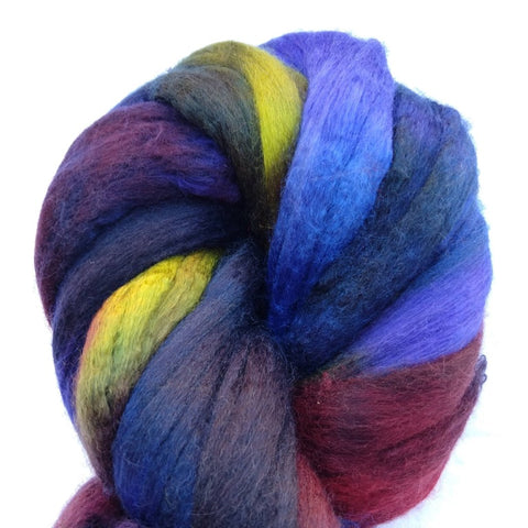Mood Ring Colorway; <br> Merino-Silk 50-50 Fiber