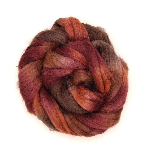 Mousse Colorway;<br> BFL-Silk 75-25 Fiber