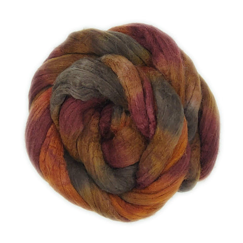 Mousse Colorway;<br>Mixed Merino-Silk Fiber