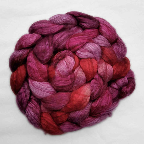 Mt Hood Rose Colorway; <br> Camel-Silk 50-50 Fiber