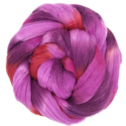 Mt Hood Rose Colorway;<br>Mixed Merino-Silk Fiber