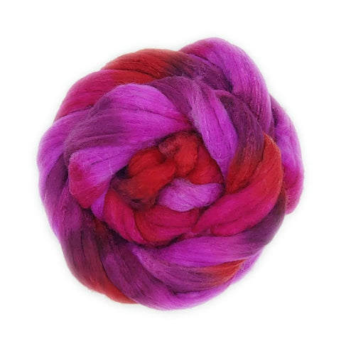 Mt Hood Rose Colorway;<br>Polwarth-Silk Fiber
