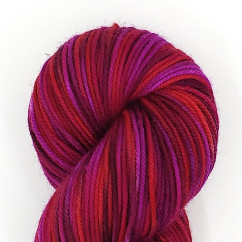 Mt Hood Rose Colorway; <br>Dakota Yarn;<br>Worsted Weight;<br>Targhee 100