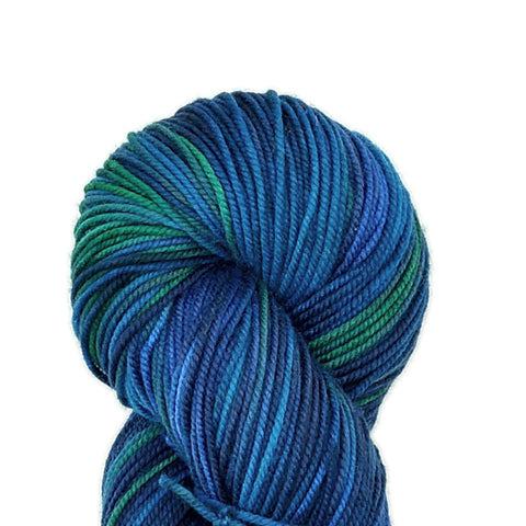 Pacific Colorway<br>Tahoma Yarn;<br>DK-Weight;<br>100 % SW Merino<br>4 oz Skeins