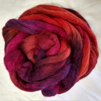 Passion Colorway; <br> Mixed Merino-Silk Fiber