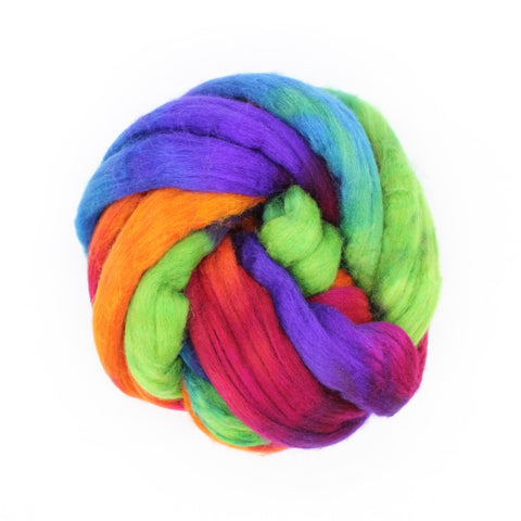 Pulse Colorway;<br>Mixed Merino-Silk Fiber