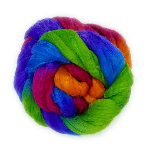 Pulse Colorway;<br>Polwarth-Silk Fiber