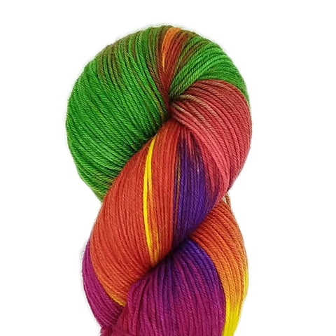 Rainbow Candy Colorway; <br>SuperSock+;<br>Sock Weight Yarn;<br>SW Merino-Nylon 80-20