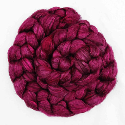 Raspberry Colorway; <br> Camel-Silk 50-50 Fiber