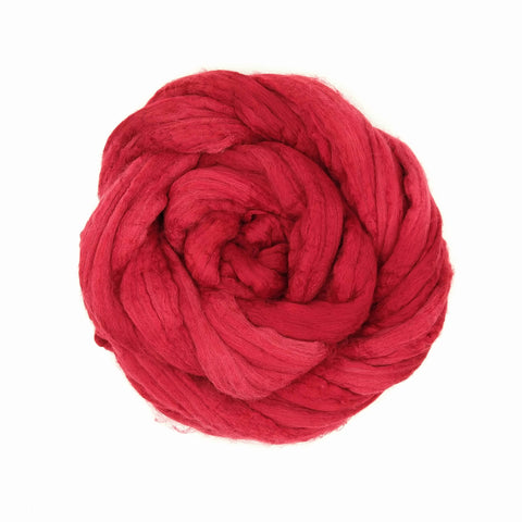 Red Color;<br>Merino-Silk 50-50 Fiber