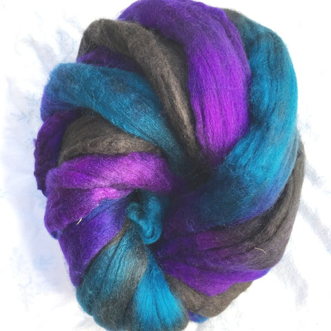 Rockstar Colorway; <br> Mixed Merino-Silk Fiber