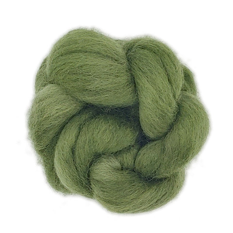 Sage Color;<br>Corriedale 100 Fiber;<br>One Ounce Breed Bit