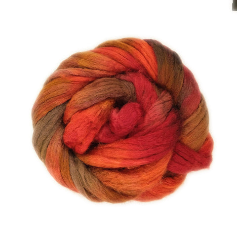 Smith Rock Colorway;<br>BFL-Silk Fiber