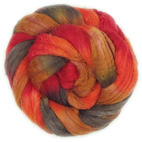 Smith Rock Colorway;<br>Mixed Merino-Silk Fiber