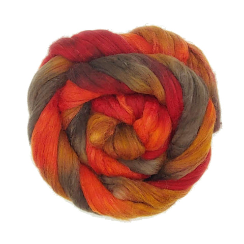 Smith Rock Colorway; <br> Polwarth-Silk Fiber