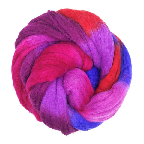 Snapdragon Colorway;<br>Merino-Silk 50-50 Fiber
