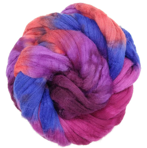 Snapdragon Colorway;<br>Mixed Merino-Silk Fiber