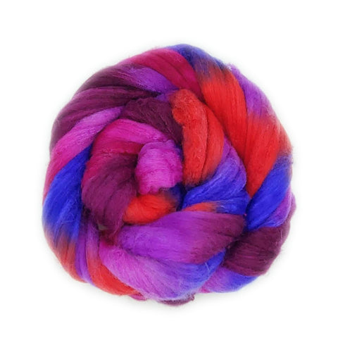 Snapdragon Colorway;<br>Polwarth-Silk Fiber