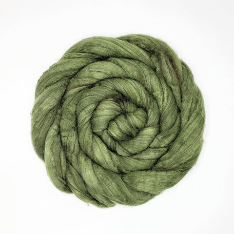 Spinach Color;<br> Fiber - BFL-Silk 75-25